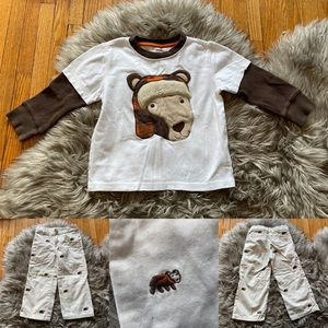 Gymboree two piece bear 🐻 outfit